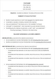 Functional Resume Templates Awesome Functional Resume Template Free