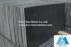 China Black Riven Slate TilesCharcoal Grey Split Face Slate Paving