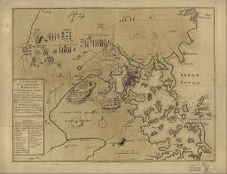 johnny tremain by esther forbes writework english a slightly inaccurate hand colored map depicting the 1775 battles of lexington and