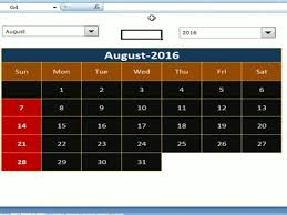 Excel Calendar Schedule How To Create Dynamic Calendar In Excel Youtube