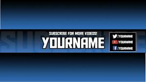 Youtube Template Psd Clean Editable Youtube Banner Template Psd Blue