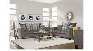 gray living room furniture. Austwell Gray 5 Pc Living Room Furniture