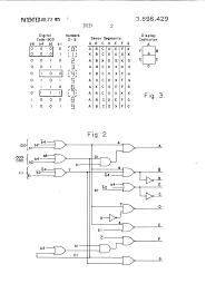 Patent us3896429 segment decoder for numeric display drawing resistor parts symbol of fuse