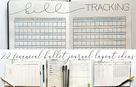 Financial Tracking 22 Financial Tracking Layouts For Your Bullet Journal