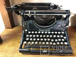 Старинная печатная машинка Ундервуд - «VIOLITY» Auction ...