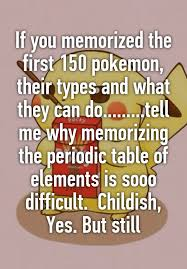 If you memorized the first 150 pokemon, their types and what they ...