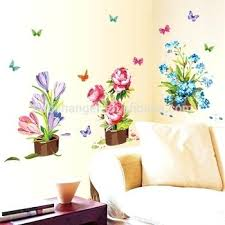 window stickers for home wall stickers home decor potted flower pot erfly kitchen window glass bathroom decals waterproof free window stickers
