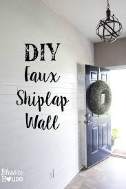 diy faux shiplap wall bless er house