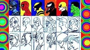 Watch as we draw and then color in lego hulk. Superheroes All Super Coloring Spiderman Thor Hulk Flash Iron Man Captain America Wolverine Youtube