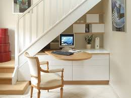 office under stairs. Beautiful Interesting Idea To Have A Desk That Swings Out From On Top Of Cabinetry Under Office Stairs