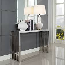 fresh modern console table for entryway