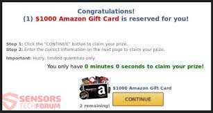 1000 amazon gift card scam generates advers such as pop up bo banners and some few others as well lots of ping pages are being arded