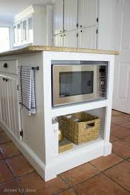 microwave in island. Shelving Added To Kitchen Island Get Microwave Off The Countertop! In C