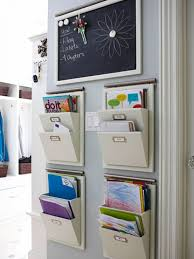 hanging office organizer. utilizing small home office spaces using 4 hanging file mail or magazine organizer with 2 pockets under mini blackboard message ideas l