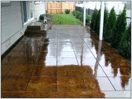 painting concrete patio can you paint slabs furniture pavers