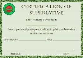 Superlative Certificate Superlative Award Certificate Template Superlative Certificate