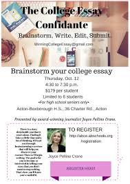 College Essay Writing Workshop Register Help With The College Essay Essay Writing