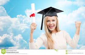 student in trencher cap diploma over big ben stock photo  student in trencher cap diploma over blue sky stock photo