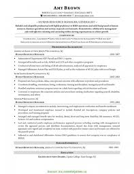 Trending Resume Samples For Human Resources Generalist Resume For Hr