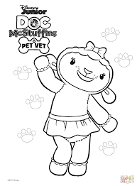 Lambie From Doc Mcstuffins Coloring Pages Lambie From Doc