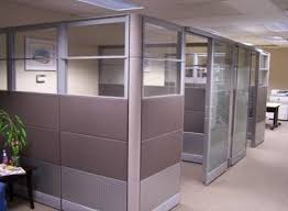 Office Cubicles with Glass Doors