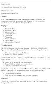 Cnc Resume Templates
