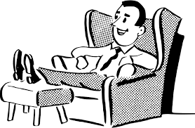 Clipart Comfortable man