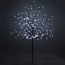 led lights outdoor blossom tree pre lit
