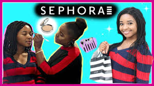 getting my makeup done at sephora