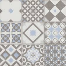 vibe light blue mosaic patterned wall and floor tiles 223 x 223mm large image
