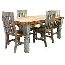 rustic dining chairs.  Rustic Turquoise Washed Rustic Dining Room Set  On Chairs S