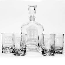 personalized capitol liquor decanter alicante rocks glasses set