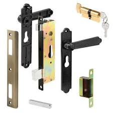 security screen or storm door lever set lock cylinder cast black