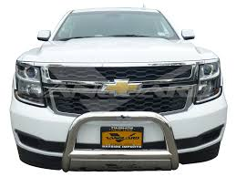 Tahoe 2004 chevy tahoe front bumper : Bull Bar 3″ W. Skid Plate S/S | Auto-Beauty Vanguard
