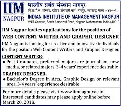 Web Designer Jobs In Nagpur Jobs In Indian Institute Of Management Nagpur Vacancies In