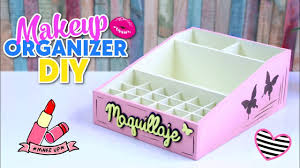 how to make diy easy and useful makeup organizer made with cardboard bo recycled crafts