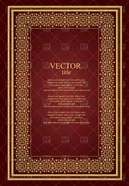old book cover template brochure or book cover template with golden vintage ornament