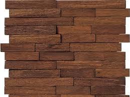 Wall-mounted decorative panel / wood / 3D / solid - WOOD BRICK - L