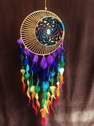 12 Inch Dream Catcher Classy Dream Catcher Chakra Wallhanging Rainbow Decore Moon Dream Catcher