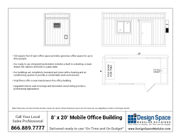 8' X 20' Mobile Office Trailer - Design Space Modular Buildings Inc.