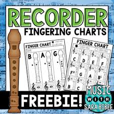 How To Play The Recorder Finger Chart Free Black White Recorder Fingering Charts