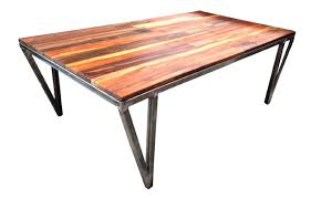 T Recycled Teak And Metal Coffee Table