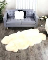 fur area rug faux sheepskin canada white