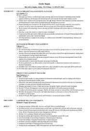 Project Management Manager Resume Samples Velvet Jobs