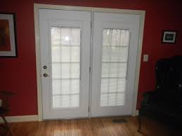 exterior steel double doors. Exterior Rectangle Double Glass Front Doors With White Wooden Frames Connected By Red Wall And Laminate Steel O