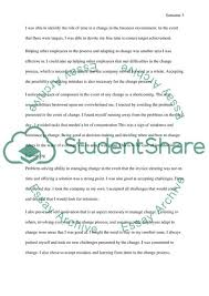 Management Of Change Reflection Essay Example Topics And Well