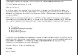 cover letter for youth worker cover letter for youth worker position youth care worker cover