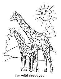 Small Picture Free Printable Giraffe Coloring Pages For Kids