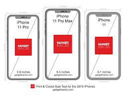 Printable iPhone 11, 11 Pro & 11 Pro ...