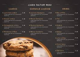 Cookie Shop Tri Fold Menu Template